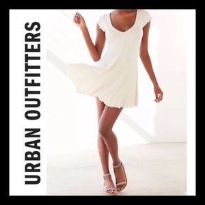 NWOT XS Urban Outfitters Cream skater mini dress